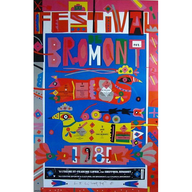 Norman Laliberte (1925-) Hand Signed Large Bromont Poster