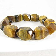 Vintage large Tiger Eye Stretch Bracelet