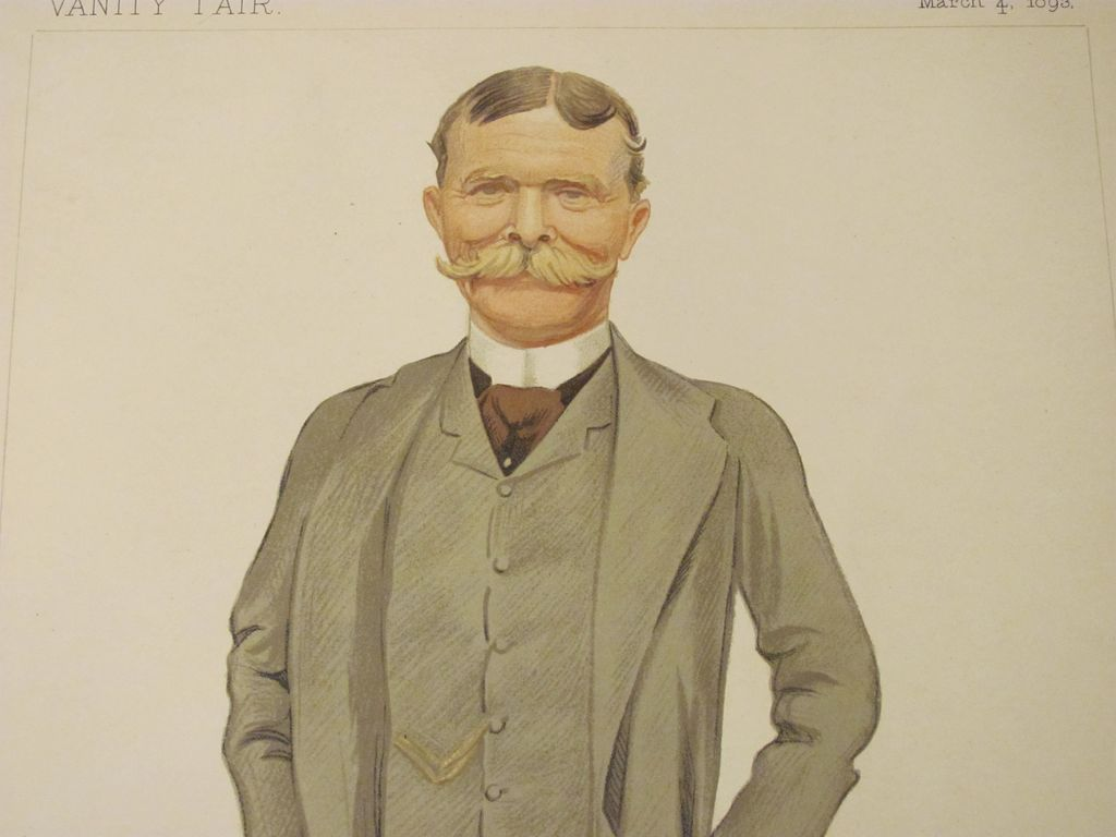 Antique Vanity Fair Men Of The Day Bill No 557 From