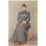 Antique Vanity Fair Lithograph Princess Victoria Mary of Teck 1893