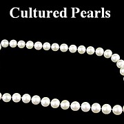 Wonderful Large Cultured Round Pearl Necklace