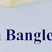 Horn Faceted Bangle Bracelet