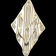 Huge Vintage Modernist Sterling Silver Brooch