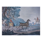 Aquatint by Levachez after the drawing of Carle Vernet (1758-1836)
