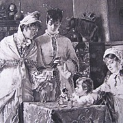 Photogravure by Gebbie & Co from a painting of Alfred Stevens
