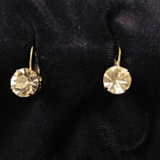 Wonderful Silvertone Coro in Script Rhinestone Earrings