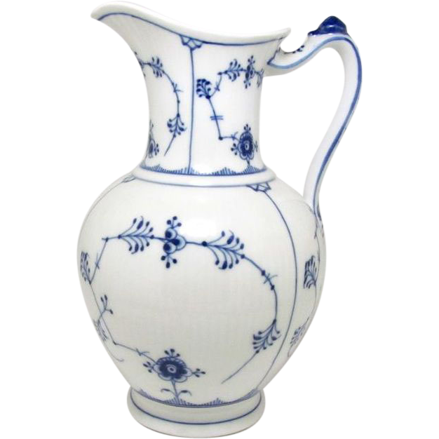 rare pre 1922 royal copenhagen blue fluted pitcher from. Black Bedroom Furniture Sets. Home Design Ideas