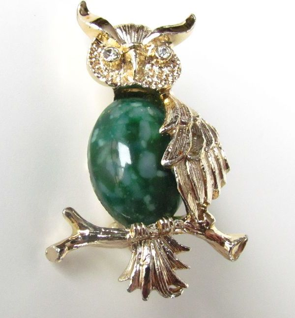 Superb Gerry's Owl Brooch / Pin