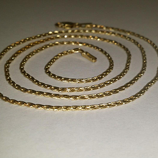 "20"" 14K Yellow Gold Spiga Chain - 5 grams"
