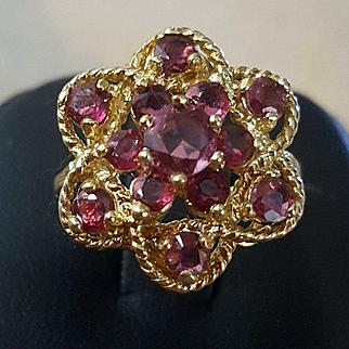 So Beautiful 14K Yellow Gold 1.5ct Ruby Ring