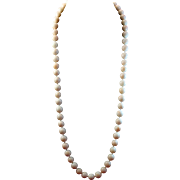 """Endless 32"""" Angel Skin Coral 11-11.8mm Bead Necklace"""
