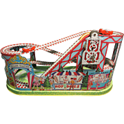 1950's Chein Mechanical Tin Litho Roller Coaster
