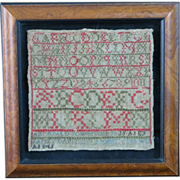 19th c. Johnston & Davieson Embroidered Sampler