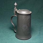"""REDUCED. Munich Pewter Beer Stein. """"A. Lorenz, 1904."""""""
