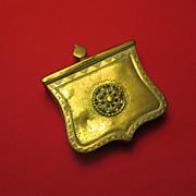 19th. c. European Brass Powder/Shot Box