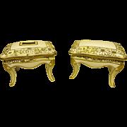 Pair Vintage Nippon Table Form Dresser Jars