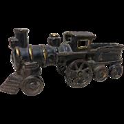 1890 Am. Cast Iron Stream Loco & Tender Toy