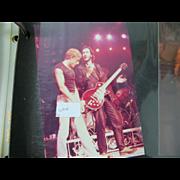 1980's Candid Photo. Rock Stars Album