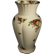 """Royal Albert Old Country Roses 12"""" Vase. Perfect!"""