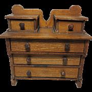 1900 Am. Mini. Oak Bureau or Chest