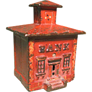 19th c. Am. Painted Cast Iron Still 'Bank'