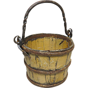 Miniature Handled Mustard Ptd. Bucket
