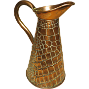 Arts & Crafts Era Copper Flagon Pitcher
