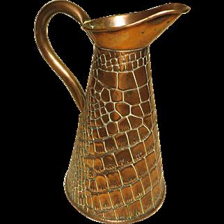 Arts & Crafts Era Copper Flagon Pitcher