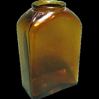 Byfield Snuff Co. Amber Bottle, c. 1890