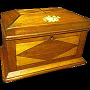 Am. Inlaid Wooden Dresser Box, 19th c.