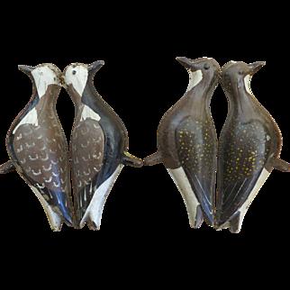2 Vintage painted 'Tinnie' Shorebird Decoys