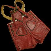 German Red Leather Lederhosen Child-size