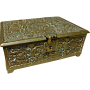 1890-1900 Art Nouveau Brass Jewelry Box