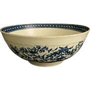 18th c. Dr. Wall Porcelain 8 in. Bowl