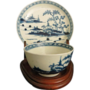 18th c. Dr. Wall Handle-less Cup & Saucer