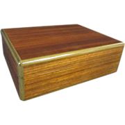 Elie Bleu of Paris Mahogany Humidor