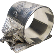 19th c. Meriden Silverplate Bird Napkin Ring