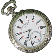 LOWERED! Doxa Swiss Goliath Pocket Watch, c. 1910