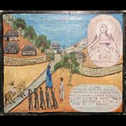1947 Retablo Painting by Juan Romero