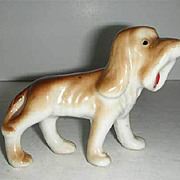 Bloodhound Japan figurine w/ open mouth