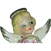 Vintage  Japan June angel w/ flower bouquet