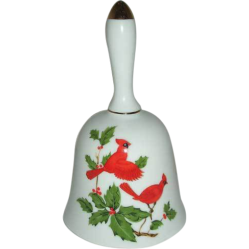 Lefton beautiful 1984 Cardinal Bird Bell