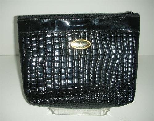 Black Patent leather clutch purse