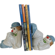 Clown Fitz & Floyd Porcelain 1079 Bookends