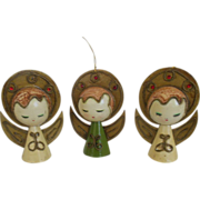 Japan paper mache halo  angels