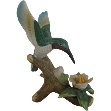 Porcelain hummingbird figurine