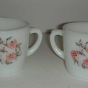 Fire King Fleurette Sugar & Creamer