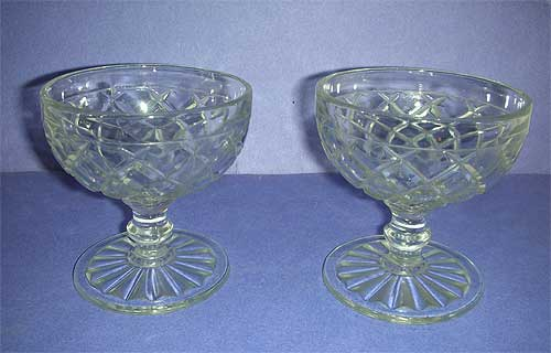 Two Waterford footed Sherbet glasses
