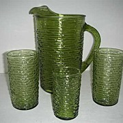 Anchor hocking soreno pitcher & glasses