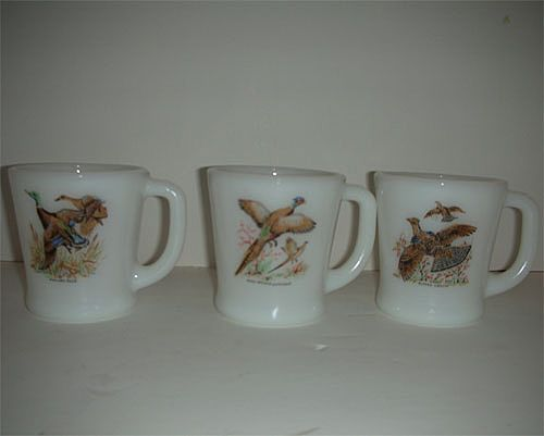 Fire King Game Bird cups